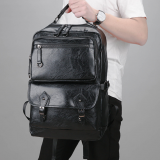 New Stylish casual leather men's shoulder bag large-capacity computer backpack