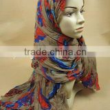 S572 Fashion big muslim long scarf ,Islamic hijabs,viscose scarf