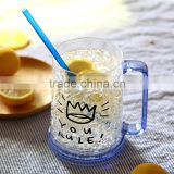 Double wall Plastic ice beer mugs for promotion