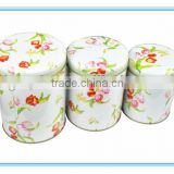 Dongguan wholesale round tea tin box set tin box set manufacturer