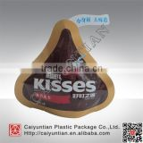 Laminated plastic bag shape bag for chololate/candy/jelly beans packging