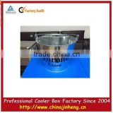 Promotion gift metal ice wine bucket stainless steel 304 wine cooler--logo printing available