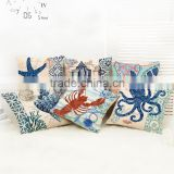 Sea Art Cotton Linen Blending Throw Pillow Covers 45*45cm Sofa Bedroom Cushion Accessories Home Decoration