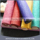 Hot sale wholesale faux leather fine glitter upholstery fabric