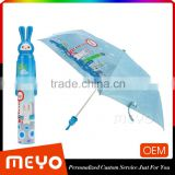 Custom Logo Painting Rabbit Cartoon Design Umbrella For Kids