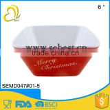 low price tableware melamine serving christmas salad bowl