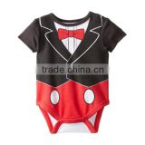 romper tuxedo baby boy,infant boys clothes,balck and red newborn disaper,baby one piece clothing,infant romper