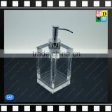Luxury solid crystal clear acrylic 250ml empty lotion pump bottle/shampoo bottle display