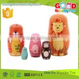 5pcs Traditional Hand Painted Wooden Matryoshka Russian Nesting Dolls