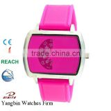Hot Sale Colorful Silicone Fashion Sport Lady Bangle Watch