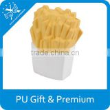 PU french fries stress toy pu toy french fry premium gift custom stress toy advertisement product food stress toy
