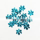 Hot sale blue color loose flower-shaped sequins for weddings dress