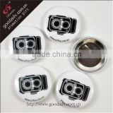 Manufacture cheap fashion promotional tin button badge with logo / wholesale tinplate button badge