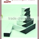 Jinhua Supplier Paper Jewelery Black Silver Sliding Box Set