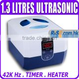 Jewellery watches spectacle dentures brace Timer Heater 1.3L 1300 ml Ultrasonic Cleaner