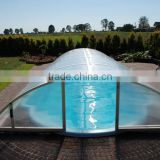 High Quality ISO certification Bayer Marolon polycarbonate sheet clear heat resistant plastic pool canopy swimming pool tents