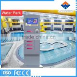 Fast Charge Wifi Card Operated 6 Lockers LCD advertising phone charging station locker APC-06B