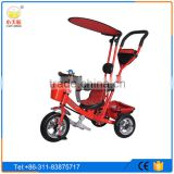 2016 hot selling children tricycle/baby ride on cars/baby tricycle with umbrella