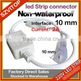 SV Power Plug Unit for LED Strip Lights, Non-waterproof ,5050 LED Strip Accessories, 2A, 10MM circuit board