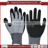 Seeway Cut resistance HDPE Sandy Nitrile coating work glove en388 used in construction industry