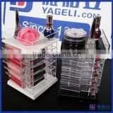 Hot sale!! acrylic cosmetic display stand for lipsticks with 48 compartments / acrylic cosmetic display lipstick stand holder