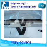 heavy duty windproof hay tarps tarpaulin,round bale hay tarps to cover the haystack                                                                                                         Supplier's Choice