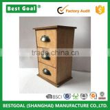 Home decoration unfinished vintage 3 draws wooden packaging box                                                                                                         Supplier's Choice
