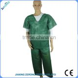 ZR-IG008 Short produce period OEM packing hospital personal protection product short sleeve disposable patient gown
