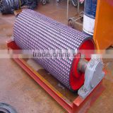 Corrosion&alkali resistant ceramic lagging pulley in coal fired power plant