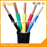 Utp 4 Core Fiber Cable Power Wire Bare Copper Wire Braid Control Cables