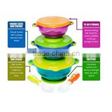 2016 Hot Sale BPA Free Plastic Spill Proof Suction Baby Bowl