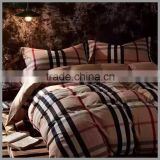 2016 Latest Design 100%cotton Yarn Dyed Plaid Style Duvet Cover Sets