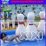 human size inflatable bowling pins for inflatable water slip game, summer inflatable water toys                                                                         Quality Choice