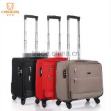 colorful 16'' four universal wheel trolley fabric laptop luggage case