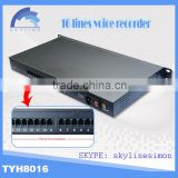 telephone recorder 16 ports usb recorder voice speaker for save phone call msg                                                                         Quality Choice