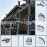 Wholesale price Wanael White brown 5.2inch PVC rectangular Kenya Rain Gutter, Rain Gutter Clamps
