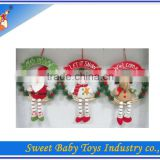 2014 Hot Sale Christmas Plush Wall Hanging Decoration Toy,Ornament Christmas Hanging Decoration Toy,Christmas Ornament Toy