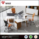 120 degree 3 person office workstation partition