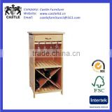 High kitchen trolley/cart/island with one drawer and wine rack
