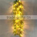 2016 new Christmas style Christmas ornaments artificial hanging rattan fake ivy lighting rattan with led light