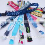 Custom RFID Fabric Woven Festival polyester Wristbands RFID for Events and Concert