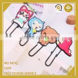 Promotional gifts for kid custom design animal giraffe plastic paper clip usb flash drive