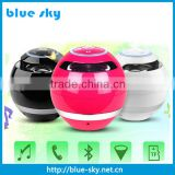 made in China factory ball shape mini bluetooth speaker with LED light                                                                         Quality Choice