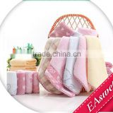 EAswet:China supplier classical bamboo fiber colorful squares small towels, high quality,gift and cheap bath towels
