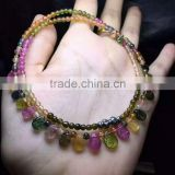 Gemstone Pendant multicolored jewelry wholesale authentic Brazil natural tourmaline tourmaline necklace colorful Princess chain