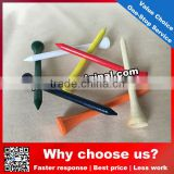 Colorful Wooden Golf Tee Wholesale/Custom Logo Printed Wooden Golf Tee