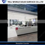 Modern style office counter/high quality reception desks/front office desk simple design
