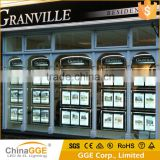 LED Illuminated Crystal Advertising LED Light Acrylic Light Box Suspended Hanging Real Estate Agent LED Window Display