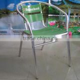 4 Logo printed aluminum used barber chairs for sale YC002A