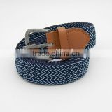 elastic leisure webbing belt knitted belts color blue pin type buckle canvas belt factory wholesale price
